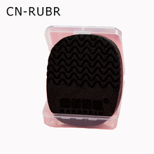 Hot Sale! 1 Piece Bamboo Charcoal Makeup Puff Soft Natural Black Bamboo Sponge Beauty Facial Wash Cleaning Cosmetic Puff Tools