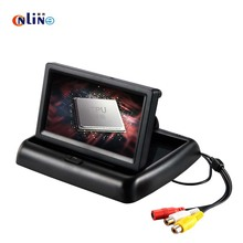 Foldable 4.3 Inch TFT LCD Mini Car Dashboard Rear View Monitor For Vehicle Reversing Parking System Rearview CCTV Backup Camera(China)