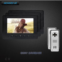 "HOMSECUR 7"" Video Door Intercom System Electric Lock Compatible for Easy Unlocking for House/ Flat(China)"