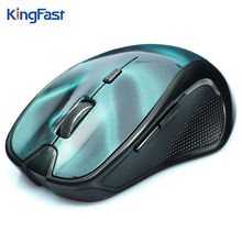 KINGFAST Wireless Mouse Bluetooth 3.0 3D Mini Mouse Optical Gaming 1600DPI Computer Mice For PC Mac Laptop Notebooks Blue(China)
