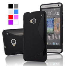 M7 Anti-Skid Ultra Thin Slim S Line Rubber TPU Gel Skin Matte Case for HTC ONE M7 801e 801S Mobile Phone Protective BAGS Cover