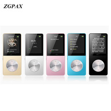 ZGPAX Metal MP3 MP4 Player 4GB 8gb 16GB Video Sport MP4 Flash HIFI Slim MP4 Video Player Radio Recorder Walkman With Speaker(China)