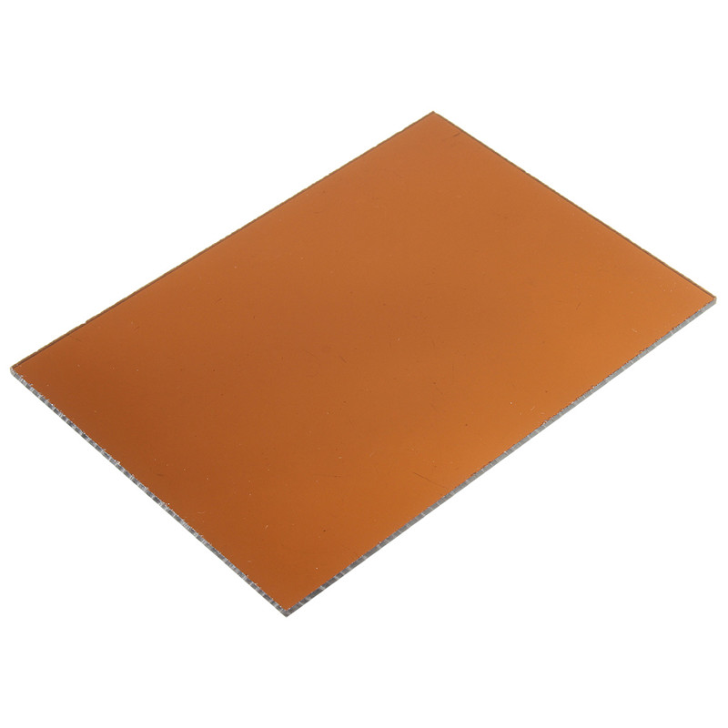 148*105*3mm Transparent Brown Acrylic Plate Clear (Extruded) Home Decor Plexiglass Plastic Transparent Sheet Low Price(China)