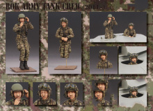 Unpainted Kit 1/35  modern strong Army Tank Crew - 2011 soldier   figure Historical WWII Figure Resin  Kit Free Shipping