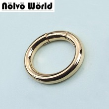 "Wholesale 30PCS,25mm (1"") Light gold Color Belt Strap Snap Clip Trigger Round Edge Spring Ring for Making Purse Bag Handbag"