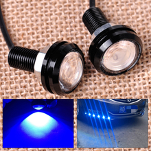 CITALL 2pcs Blue Eagle Eye Hawkeye LED Strobe Light Lamp Daytime Running Light for Boat Marine Car SUV Off-Road Motorcycle(China)