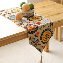 FUYA Table Flags Modern European-style Garden Coffee Table Stylish Simplicity Flag Tassels Bohemian Bed Table Runner