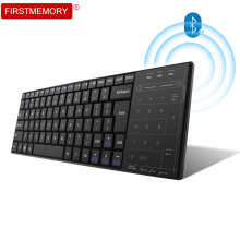 Firstmemory Bluetooth 3.0 Keyboard with Touch Pad Micro USB Charge Cable Wireless TouchPad BT Keypad Super Slim Ergonomic For PC(China)