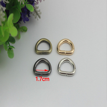 (30 Pcs/ Lot) Gold, Silver, Gun Black, Bronze Metal D Rings Buckles 17mm for Webbing, Leather Craft, Purse Straps, Mini Bags(China)