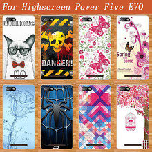 Blue Water Flower 3D Design Case FOR Highscreen POWER Five EVO Soft TPU Cover Butterfly Style Case For Highscreen Power FIVE Evo