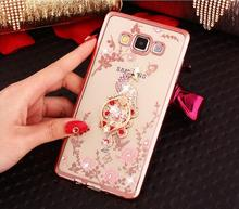 Beautiful Peacock Diamond Rhinestone Crystal cover For Samsung Galaxy J1 J3 J5 J7 Prime A3 A5 A7 A8 C5 C7 Pro 2015 2016 2017