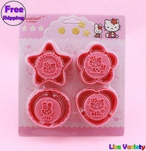 Free Shipping cute plastic hello kitty cookie cutter mold