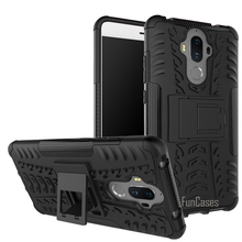 Case For Huawei Mate 9 Mate9 Case 5.9inch Hybrid Kickstand Dazzle Rugged Rubber Armor PC+TPU Stand Function Shockproof Case