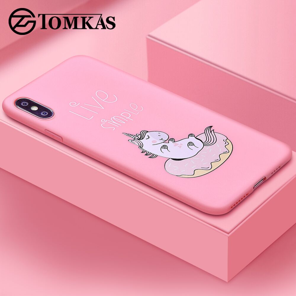 TOMKAS Unicorn Animal Phone Case For iPhone 7 8 Cases For iPhone X XS MAX Back Cover Silicone Coque Case For iPhone 6 S 6S 7    (China)
