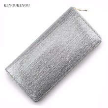 Buy Glitter Wallets PU Leather Zipper Wallet Long Lady Clutch Bag Bling Credit Card Holder Coin Pocket Slim Rfid Female Purse for $6.99 in AliExpress store