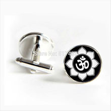 Buy 2017 wholesale Lotus Cufflinks Om Cuff link Buddhist Cufflink Shirt Cufflinks Women Om Cuff links for $1.25 in AliExpress store
