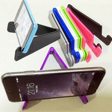 Universal Foldable Plastic Moible Phone Holder Tablet Smartphone Tripod Folding Stand Holder For IPhone5 6 Plus HTC Samsung