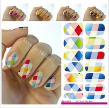 2017 New Arrival Manicure V621 New Fashion Water Transfer Foil Nail Stickers All Kinds Of Art Design Patterns Decorative Decal