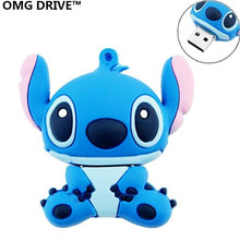 4GB/8GB/16GB/32GB/64GB Genuine cartoon USB flash drive cute thumb memory stick stitch pen drive usb flash beautiful Freeshipping