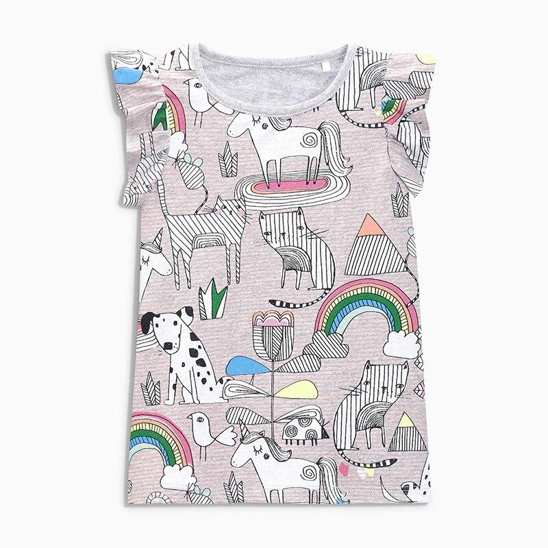 Baby Kids Boy Cotton T-Shirt Toddler Dinosaur Short Sleeve Tops Cartoon Blouses