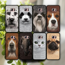 For the best-selling family pet animal heads phone Hard shell case cover for Sansung Galaxy S4 S4 S5 MINI S6 Edge