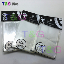 (1 Lot= 100PCS) 65*90mm Card Sleeves Cards Protector Barrie board game sleeves High Quality