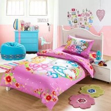 girls pink hello kitty cartoon quilt bedding set twin size lovely floral bedspreads comforter 3/4/5pcs baby kids bedsheets linen