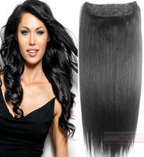 "16""-32"" 1Pcs Set Single Hairpieces 100% Brazilian Human Hair Clips In/on Extensions #1 Jet Black 70g 80g 100g 120g 140g 160g180g"