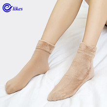 Buy 4 pair Women Socks Winter Warm Thicken Socks Wool Home Snow Boots Cotton Socks Female Winter Velvet Floor Socks Women 2017 for $11.90 in AliExpress store