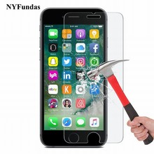 NYFundas Tempered Glass Screen Protector For Apple iPhone 7 Plus 6S 6 5 5S SE 4 4S Film Protection verre trempe ScreenProtector