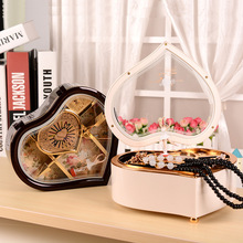 Vintage Rotary Music Box Mechanism Rotation Girl Dancing Ballerina Music Box Mechanical Hearted Shape music boxes High Quality(China)