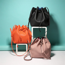 2017 Newest M Bucket Bag  All-Match Women PU Leather Hand Bag Top Famous Designer Bags Cross-Body Handbag Hot Fashion Women Bags
