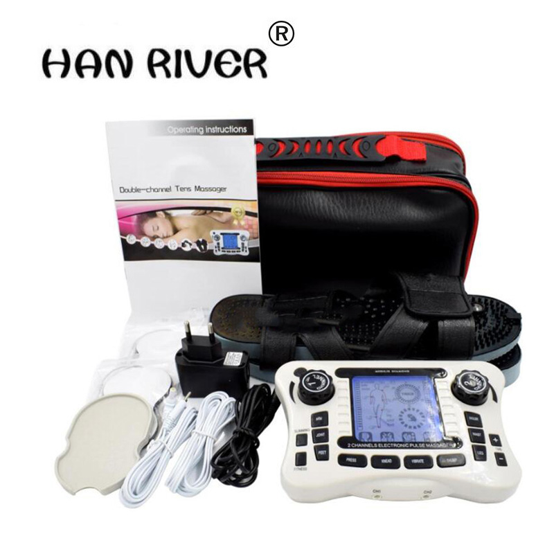 TENS UNIT/Dual channel output TENS EMS pain relief/Electrical nerve muscle stimulator/Digital therapy massager/Physiotherapy<br>