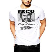 Pablo Escobar T-Shirt Medellin Cartel King of  Plato A Plomo Colombian T Shirt Men Funny Tee Shirts Short Sleeve Print Tee