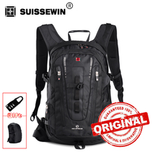 Swisswin Men Travel Backpack 32L Large Capacity Backpack Male Swissgear 15.6 Computer Backpack For Business Carry On Bag SW9972