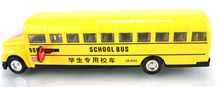 Funny 1:32 scale simulation School bus diecast alloy car with light & musical pull back toys open door model