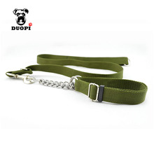 Duopi Soft Army Green Dog Leash 1.2M Reflective Nylon Walking Training Dog Leads Stock Running Dog Pet Hard & durable(China)