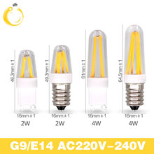 G9 Dimmable Lamp 220VE14  LED Filament Chip E14 Edison Candle Light Bulb Retro Tungsten Chandelier Lighting