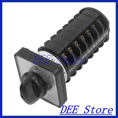 AC 660V 10A Self Locking 0-1 Two Position Cam Combination Changeover Switch<br><br>Aliexpress
