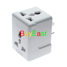 2 X Australia, New Zealand, China 3 Way Outlet AC Power Adapter 10A Fused Masterplug(China)