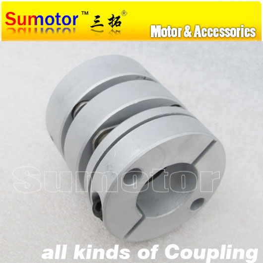 CNC OD44mm L50mm Bore 12mm 12.7mm 14mm 15mm 16mm 18mm 19mm 20mm 22mm servo stepper motor double Diaphragm flexible shaft Coupler<br>