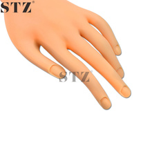 STZ 1pcs Fixable Nail Art Training False Hand Flexible Fingers For Makeup Salon Sticker Polish Practice Display Manicure ND275