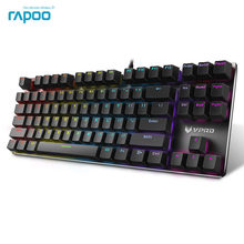 Original Rapoo V500 RGB Game keyboard Full Keys Programmable 2.0mm Trigger Stroke MX Pro Mechanical Gaming Keyboard(China)