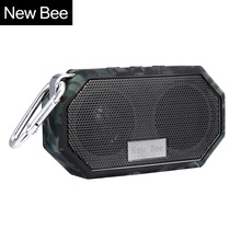 New Bee Waterproof Wireless Bluetooth Speaker Mini Subwoofer Shower Portable speakers Hands-free Call Mic for Phone PC(China)