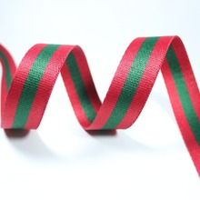 Red Green red 38mm wide net ribbon 48 yards twill Striped Webbing polyester for sewing Bag Handles