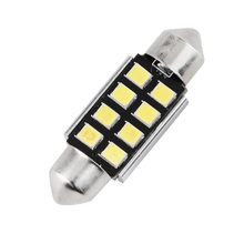 2016 20161PC Festoon 8 SMD 36MM Car LED Bulbs Interior Dome Festoon Lights auto roof lamp White 12V hot selling