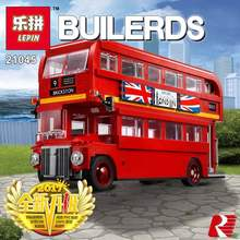 Lepin 21045 1716Pcs Genuine Technic Series The London Bus Set 10258 Building Blocks Bricks Children Educational Toys Model Gifts