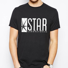 STAR LABORATORIES the flash T Shirts Men Ltter Print Man T-Shirts Short Sleeve O Neck tshirt Cotton Euro Size Mens Tee Tops
