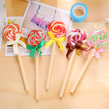 4 pcs/lot novelty Lolipop ballpoint pen boligrafos pen material escolar papelaria stationery school supplies 0.5mm(China)