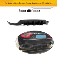 Carbon Fiber Auto Car Diffuser Rear Bumper Lip For Maserati GT Gran Turismo Coupe 2 Door 2006-2014(Hong Kong)